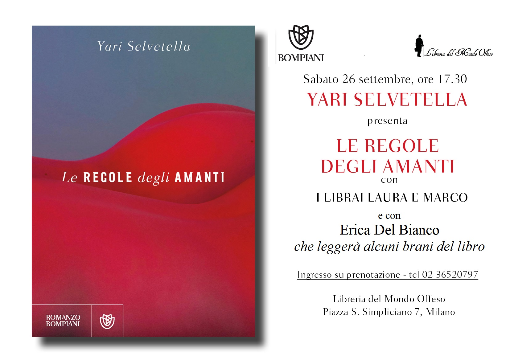 YARI Selvetella Libreria Mondo Offeso 26 SETTEMBRE 2020